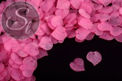 20 pcs. rose lucite-leaves frosted 16mm-20