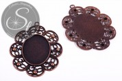 1 pc. oval copper-colored cabochon-setting 77mm-20