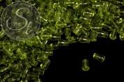 10 pcs. pear-shaped green glass beads 11mm-20