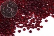 20 pcs. round dark-red glass beads 6mm-20