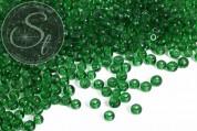 20 pcs. round green glass beads 6mm-20