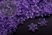 10 pcs. lilac acrylic-flowers transparent 27.5mm-20