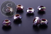 2 pcs. faceted European millefiori glass beads ~14-15mm-20