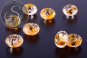 2 pcs. faceted European millefiori glass beads ~14-15mm-20