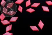 5 pcs. rose rhombus-shaped shell beads 17.5mm-20