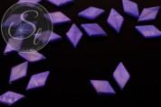 5 pcs. lilac rhombus-shaped shell beads 17.5mm-20