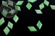 5 pcs. green rhombus-shaped shell beads 17.5mm-20