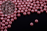 40 pcs. old-rose wax glass beads 6mm-20