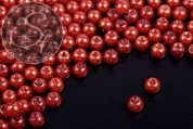 40 pcs. copper-colored wax glass beads 6mm-20