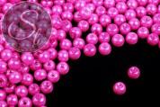 40 pcs. pink wax glass beads 6mm-20