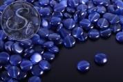 10 pcs. round flat dark-blue cateye beads 10mm-20