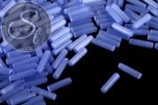 10 pcs. blue cylindrical cateye beads 15mm-20