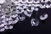 5 pcs. transparent crystal glass pendants 8mm-20