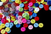 """25 pcs. colorful mixed """"candy""""-buttons ~11mm-20"""