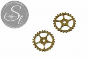 1 pc. big antique bronze-colored gear ~25mm-20