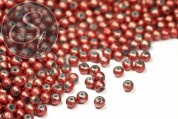 20 pcs. salmon-colored spray-painted drawbench glass beads 4mm-20