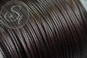 5 meters darkbrown waxed cord ~1mm-20