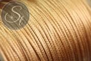 5 meters golden-beige waxed cord ~1mm-20