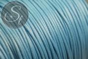 5 meters blue waxed cord ~1mm-20