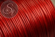 5 meters red waxed cord ~1mm-20