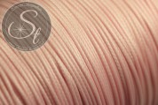5 meters rose-colored waxed cord ~1mm-20