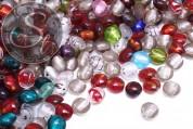 40g handmade metal foil glass beads ~12-14mm-20
