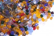 20 pcs. biconical faceted glass beads mix ~11mm x 8mm-20