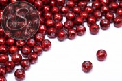 10 pcs. red spray-painted drawbench glass beads 8mm-20