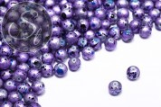 10 pcs. lilac/blue spray-painted drawbench glass beads 8mm-20