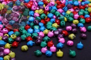 30 pcs. colorful mixed bells ~10mm x 8mm-20