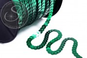 2m green sequin ribbon ~5mm-20