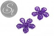 1 pc. handmade lilac wire flower ~33mm-20