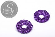 1 pc. handmade lilac wire ring ~30mm-20