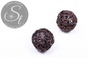 1 pc. handmade copper-colored wire bead ~25mm-20
