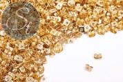 20 pcs. golden-colored ear nuts-20