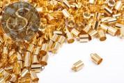 10 pcs. golden-colored end caps ~9.5mm-20
