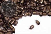 10 pcs. antique bronze-colored end caps ~9.5mm-20