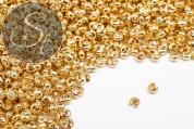 20 pcs. golden-colored crimp bead covers 4mm-20