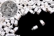 10 pcs. silver-colored end caps ~9.5mm-20