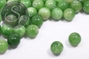 5 pcs. green white-jade beads 12mm-20