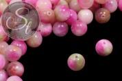 5 pcs. pink/rose/green white-jade beads 12mm-20