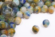 5 pcs. blue/turquoise/white/orange white-jade beads 12mm-20
