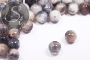 5 pcs. black/white/brown white-jade beads 12mm-20