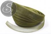5m olive-green organza ribbon 15mm-20
