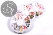 1 pc. Christmas clay flakes disc-container ~120 pcs.-20