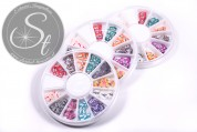 1 pc. butterfly clay flakes disc-container ~120 pcs.-20