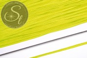 1m neon yellow soutache braid rough-style 3mm-20