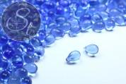 """20 pcs. big blue Czech """"Drop"""" glass beads 9mm-20"""