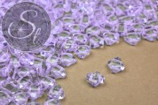 "20 pcs. light lilac-colored Czech ""2-hole/diagonal"" glass beads 6mm-20"