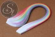 """100 pcs. 10-color-mix Quilling Paper-Strips """"Double Gradient"""" ~3mm-20"""